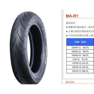 全新2017年進貨 MAXXIS 瑪吉斯輪胎 MA-R1 R1 120/70-13 熱熔胎