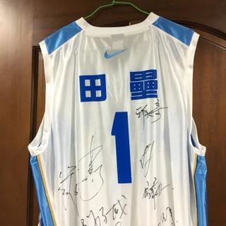 達欣工程 田壘 1號 SBL總冠軍 簽名球衣 紀念球衣