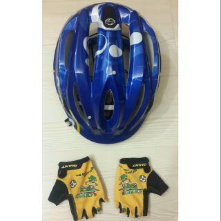 Giant 捷安特兒童單車安全帽及防護手套
