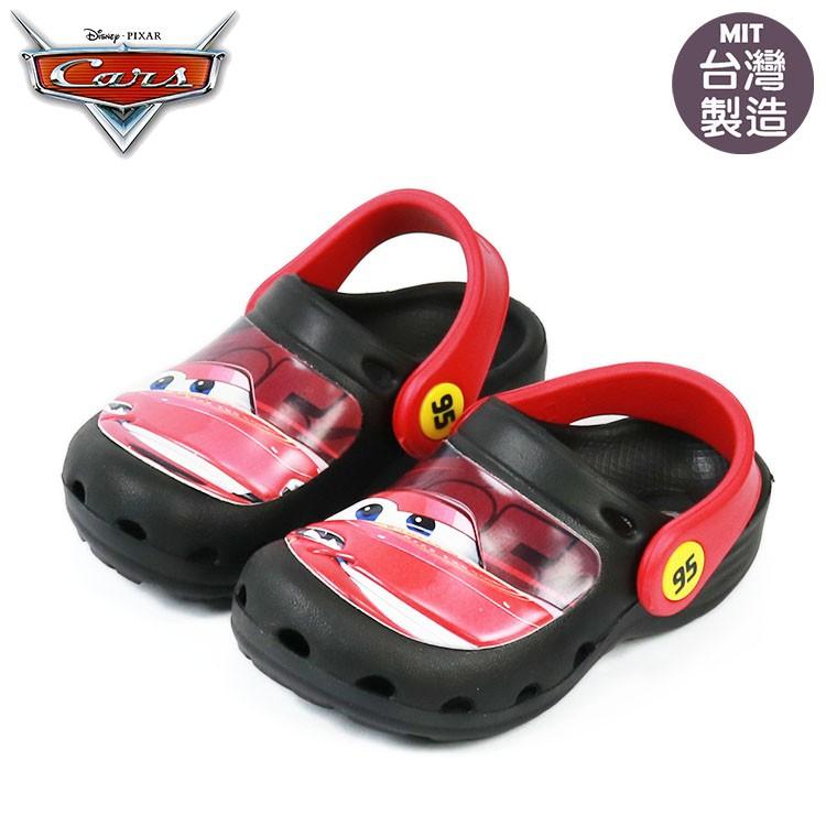 迪士尼CARS閃電麥坤兒童輕便園丁鞋.布希鞋.花園鞋 黑15-20號217001