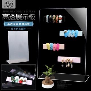 日本美甲透明壓克力展示架展示板甲片