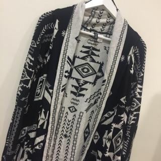 H&m民族風柔軟罩衫披肩長袖外套