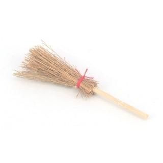 1:12 袖珍玩具 竹掃把  迷你情境擺飾 攝影小道具