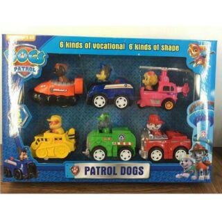 汪汪隊巡邏車6款一組回力車寶貝玩具