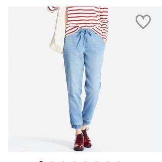 UNIQLO 全新女版牛仔束口褲