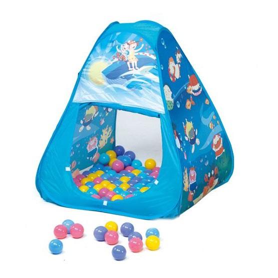 【麗兒採家】親親 三角帳篷折疊遊戲球屋+送100顆彩色球(彩盒裝)