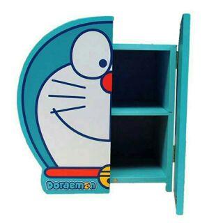 正版哆啦A夢造型木製雙層收納櫃/置物櫃/收納箱