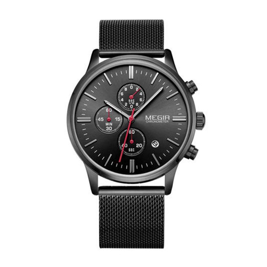 MEGIR 790 男錶 多功能手錶 時尚運動手錶 商務手錶 石英錶 夜光錶 防水錶 鋼帶手錶