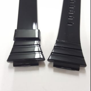卡西歐 casio w-215H可完全替代黑色 亮面膠帶  副廠錶帶