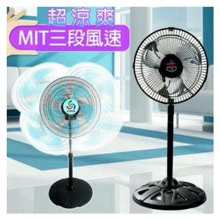12吋14吋16吋電風扇涼風扇對流扇工業扇立扇360度八方吹廣角對流超涼風扇金展輝