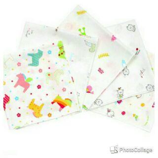 Babyan 韓國製 卡通純棉紗布巾/口水巾