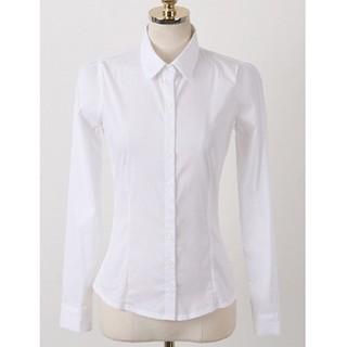 純白色 修身襯衫長袖短袖襯衫OL 上班族白領