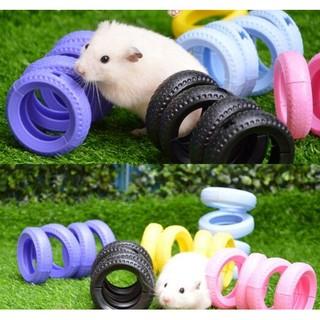 PETSTYLE可愛輪胎玩具刺蝟倉鼠蜜袋鼯輪胎鑽筒通道多色特價