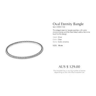 現貨 潘朵拉 Pandora 925純銀 飾品 手環 硬環 18cm %23590511CZ