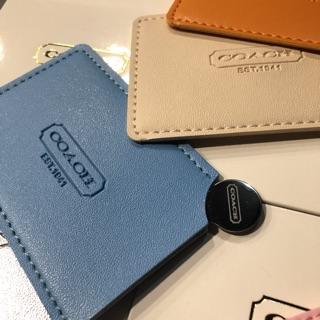 「12色現貨」COACH 日本限定 雜誌贈品 不鏽鋼鏡子 卡套 隨身鏡 名片鏡 不鏽鋼鏡  化妝鏡 悠遊卡 鏡子 名片夾
