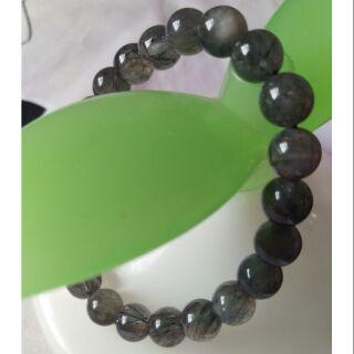 天然黑髮礦物水晶手珠