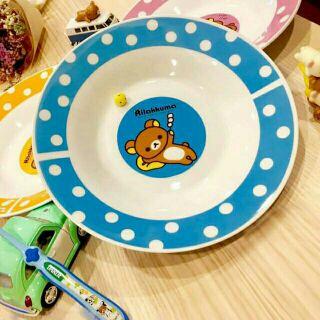 Rilakkuma 拉拉熊 懶懶熊 黑人牙膏 藍色 盤子 全新 現貨