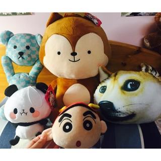 全新 大中小 絨毛 填充 娃娃 韓劇 太陽的後裔 松鼠 熊 狗 抱枕