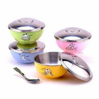 現貨斑馬牌 ZEBRA兒童不鏽鋼碗(含不鏽鋼蓋/湯匙 )兒童碗 彩色碗