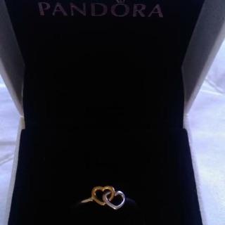 Pandora 雙心戒指