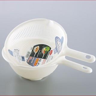 日本進口SANADA瀝水籃 蔬果瀝水筐 洗菜籃 瀝水盆 帶手柄2件套