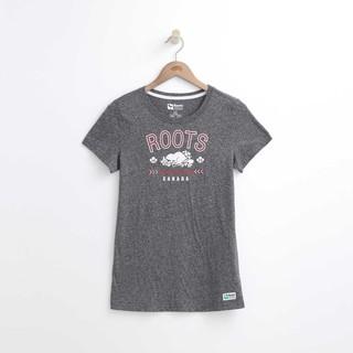 (((官網新款,限時特價))) ROOTS  女  SUMMER FRESH系列阿岡坤短袖圓領T恤上衣