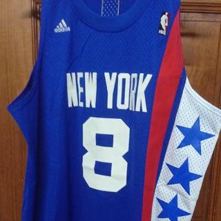 NBA紐澤西籃網隊Deron Williams復古ABA客場藍色球衣M號
