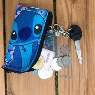 迪士尼 正版授權 星際寶貝 史迪奇 鑰匙包 零錢包 零錢鑰匙包 收納包 【玩具ZAKKA】N001