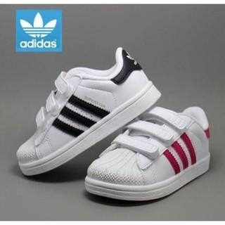 Adidas superstar 金標貝殼頭魔鬼氈童鞋 愛迪達童鞋