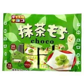 日本 元祖 松尾 黃豆麻糬巧克力7枚(49g)  抹茶口味