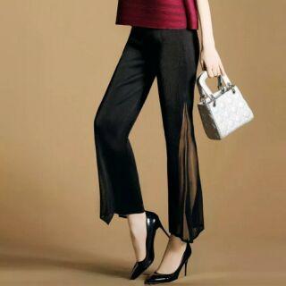 時尚 新款 三宅一生 皺褶衣 褲子 寬鬆 褲子 闊腿褲