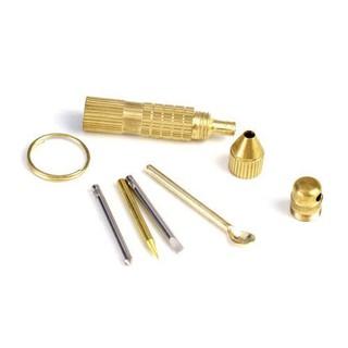 (禮物) 隨身微型 4合1 挖耳勺+眼鏡螺絲起子(一字/十字/尖型) 帶鑰匙圈