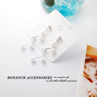 ~Bonjouracc ~韓國耳環925 銀針珍珠堆滿天