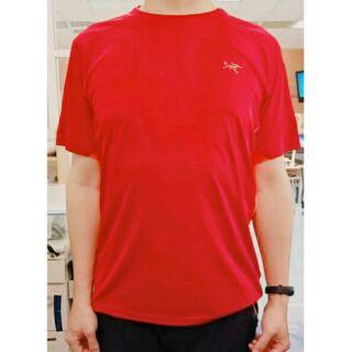 始祖鳥 12084 排汗T恤 橘紅色 前後材質不同