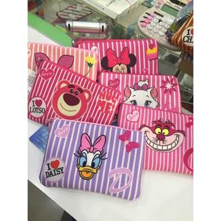 迪士尼 條紋系列 布包 化妝包 手拿包 零錢包 手機包 Disney 米妮 小豬 柴俊貓 瑪麗貓 熊抱哥  黛西
