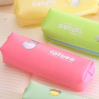 BS81日韓文具可愛宮崎駿龍貓果凍膠筆袋卡通學生文具盒鉛筆袋