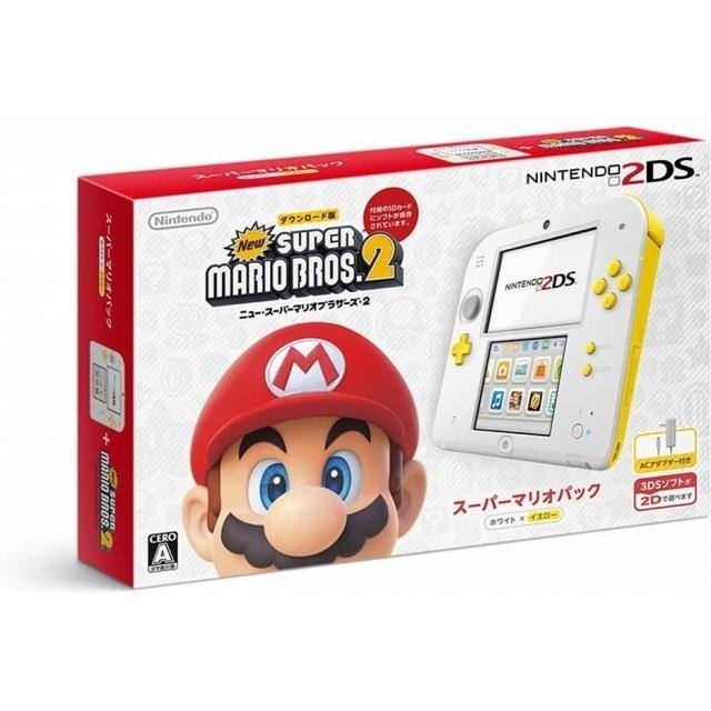 N2DS限量2DS主機 任天堂日規機種日文介面 瑪莉歐兄弟2同捆組 黃白色款 非3DS 3DSLL 【魔力電玩】