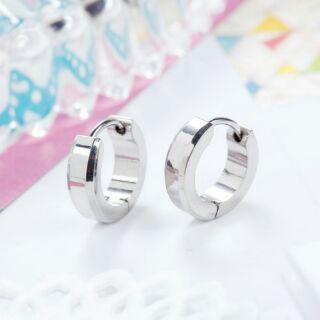 不鏽鋼抗敏細版圈圈耳環