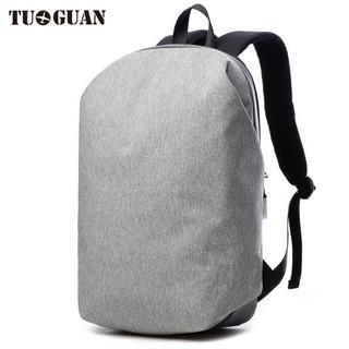 Tuguan 極簡風 雙肩後背包 防盜 防刮 防潑水 登山 旅行 筆電 學生書包