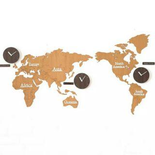 預購世界地圖時鐘 掛鐘