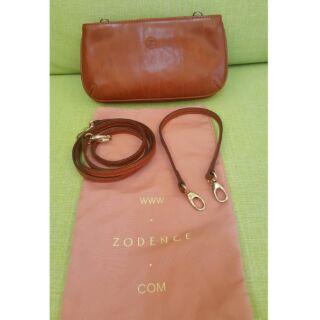Zodence牛皮包包/肩背包/手提包/斜背包,附防塵袋