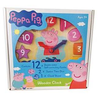 佩佩豬木頭時鐘遊戲組