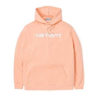 Carhartt Hooded Carhartt Sweatshirt 長袖連帽長T 鮭魚粉 黑色