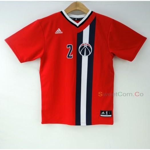 玉米潮流本舖 ADIDAS NBA Washington John Wall #2 15-16賽季備用短袖球衣 青年版