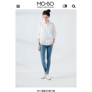 MO-BO 3D纖腿褲 灰藍色