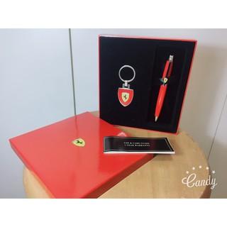 SHEAFFER法拉利300原子筆+鑰匙圈禮盒/紅  限量品喔!!!