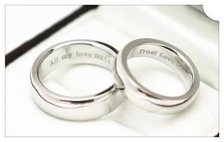 JF 金進鋒珠寶 客製鉑金PT900 對戒 素白金對戒 客製鑽石戒指 刻字戒