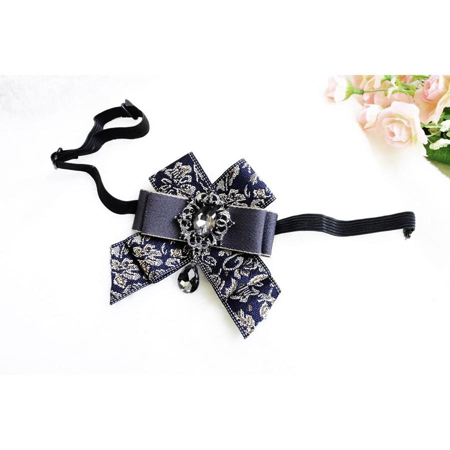 WEI -TONG威棠頂級婚飾 韓版寶石水鑽新郎領結 領帶 男士領結 西裝領結 燕尾服婚紗拍照領結配飾 *