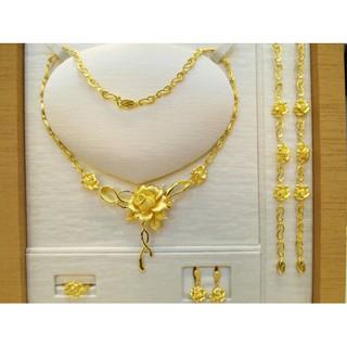 豐瓏銀樓 ~9999黃金純金玫瑰花ROSE結婚套組很實心 結婚黃金項鍊 都可以單買項鍊手鍊耳環戒指