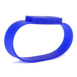 16GB矽膠手鍊U盤 - 藍色